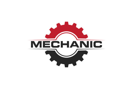 modern gear service logo, icon, symbol, vector illustration