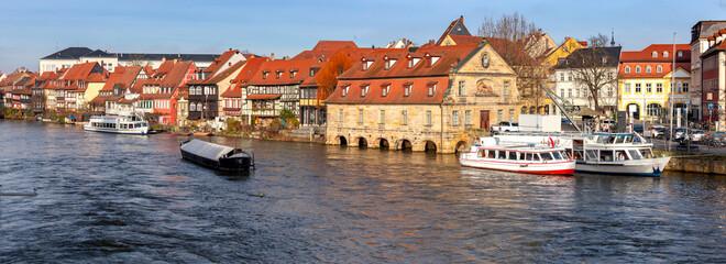 Bamberg. Panorama. Little Venice district.