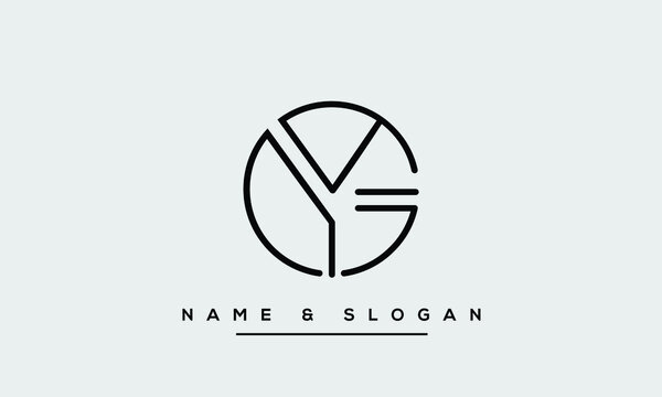 GY,YG,G,Y Abstract Letters Logo Monogram