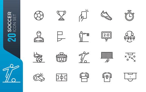 minimal soccer icon set