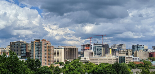 Dramatic clouds cover Bethesda, Maryland after the passing of Hurricane Isaias, August 4, 2020.