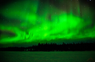 Northern lights at Yellowknife, Canada