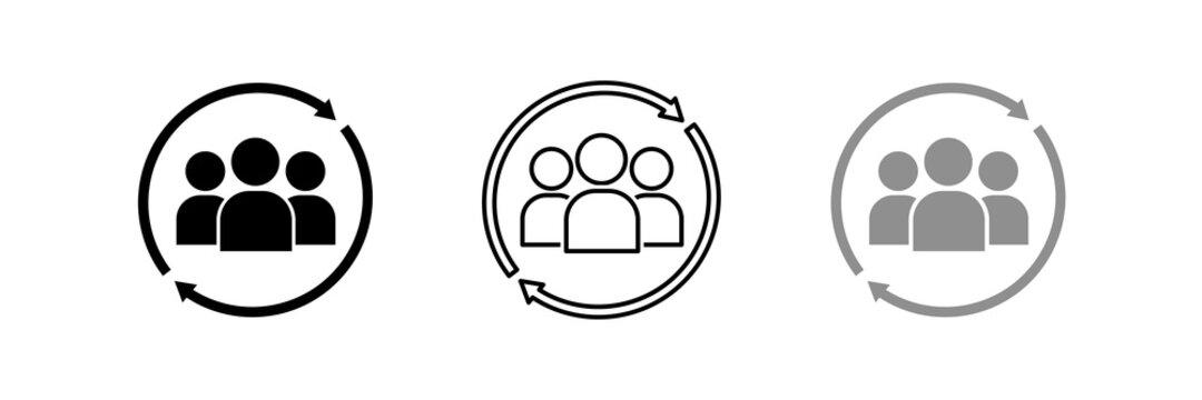 User icon , set of symbols user , profile