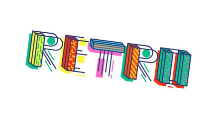Retro colorful cartoon inscription vector illustration isolated on background.