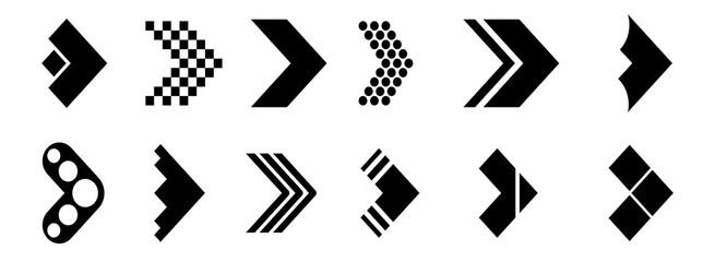 Big set of different arrows. Modern simple arrows