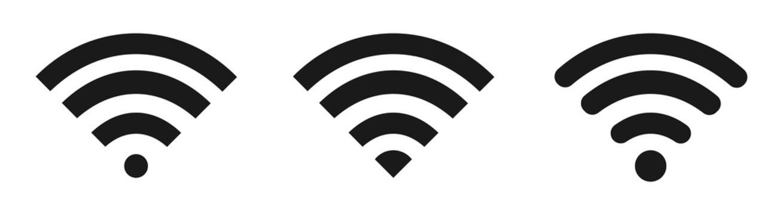 Wi-Fi Icon set symbol isolated on white background. Vector illustration