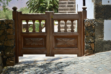 Closed gate Fuerteventura, Canary islands, Spain