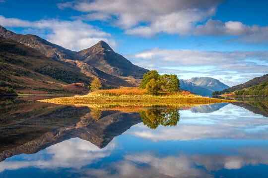 Incredible reflections on Loch Leven, Scotland.
