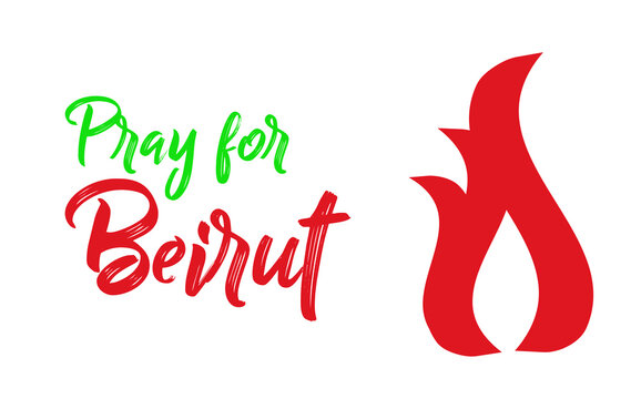 Pray for Lebanon. Pray for Beirut background. Lebanon on dark background. Massive explosion on Beirut. Concept of praying, mourn, humanity and peace. pray for lebanon concept.