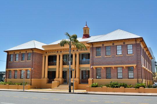 Mackay, Queensland, Australia – December 28, 2017.  Mackay Court House in Mackay Australia