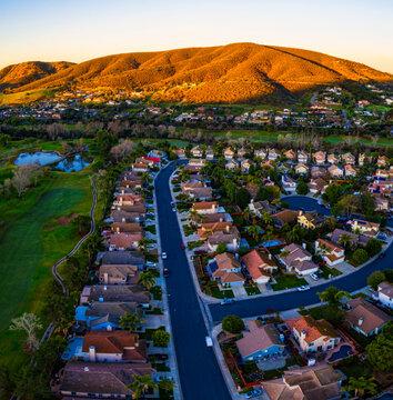 Sunrise in San Marcos. Twin Oaks valley is in San Marcos, California. This is North County San Diego, USA.