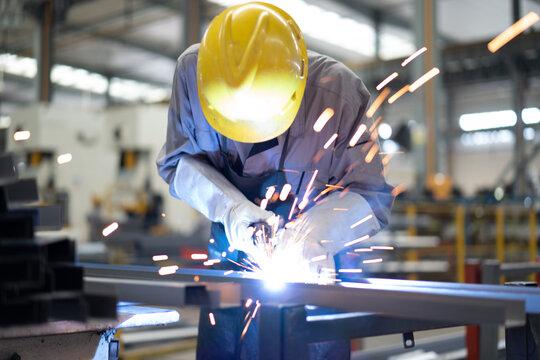 worker working in factory