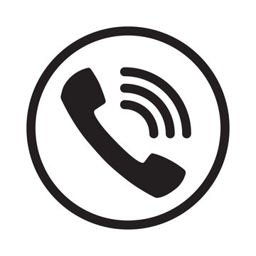 Call icon vector. Noisy phone Flat calling symbol.