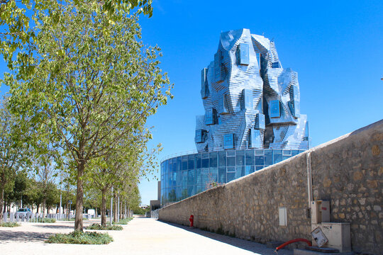 Arles, France - July. 24, 2020 : Luma tower in Workshop park, new cultural center in Arles, France