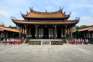 Wall Murals Place of worship Taipei Taiwan - Ceremony at Taipei Confucius Temple