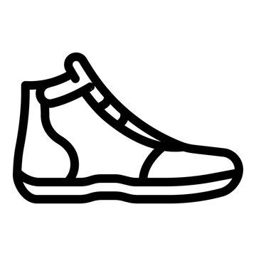 Greco-roman wrestling shoe icon. Outline greco-roman wrestling shoe vector icon for web design isolated on white background