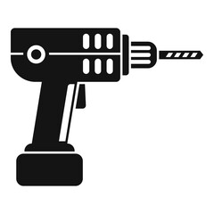Electric drill icon. Simple illustration of electric drill vector icon for web design isolated on white background