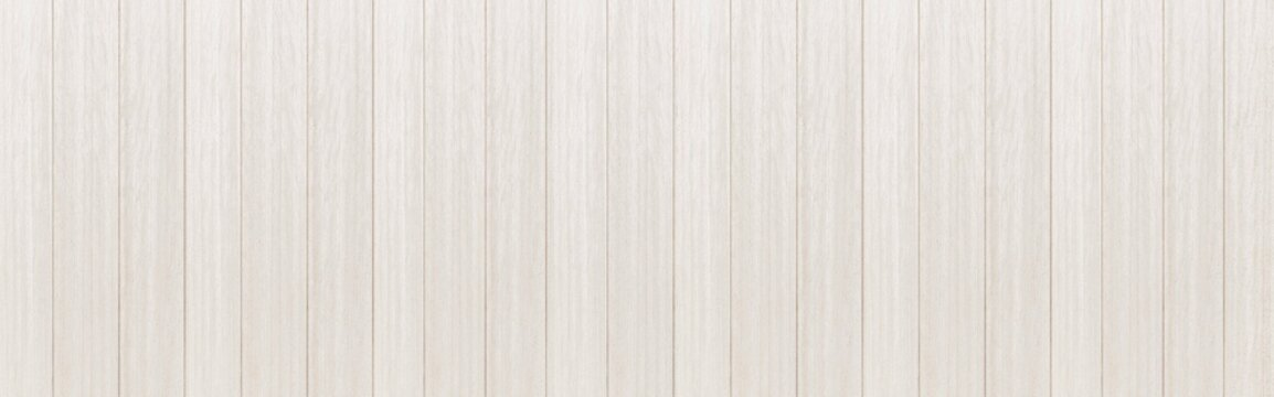 Panorama of Wood plank white timber texture background.Vintage table plywood woodwork hardwoods
