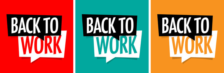 Wall Mural - Back to work