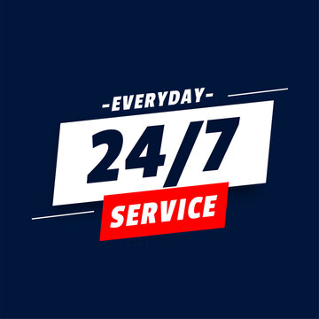 everyday 24 hours service background design