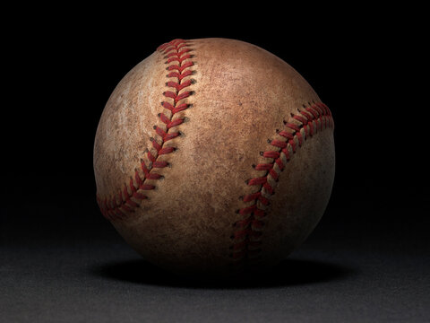 baseball ball on black background