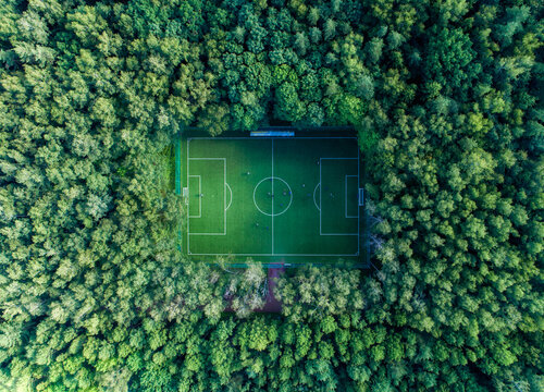 Awesome football field in Moscow, Russia
