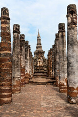 Foto op Canvas Historisch mon. Ancient Buddhist temple in Sukhothai, Thailand