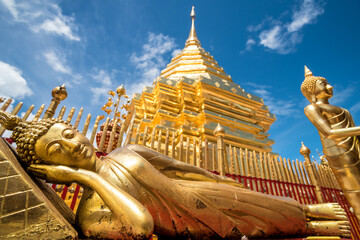 Foto op Canvas Historisch mon. Beautiful golden design of ancient temple