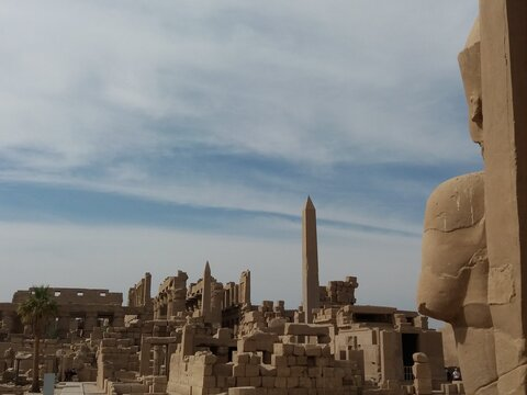 View from inside the Karnak Temple, Luxor.