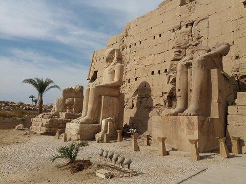 Statues inside Karnak Temple, Luxor.