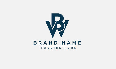 BW Logo Design Template Vector Graphic Branding Element.