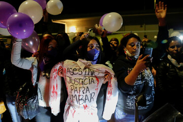 People protest against the death of 16-year-old girl Ambar Cornejo in Valparaiso