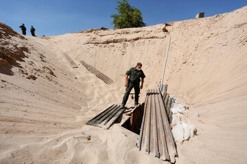 Unfinished cross-border tunnel found by U.S. federal agents in San Luis, Arizona