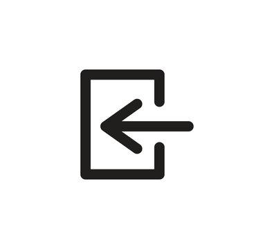 log out icon vector logo design template