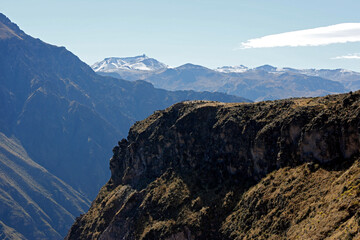 View of Colca Canyon and Lookout Point. Caylloma Province, Peru