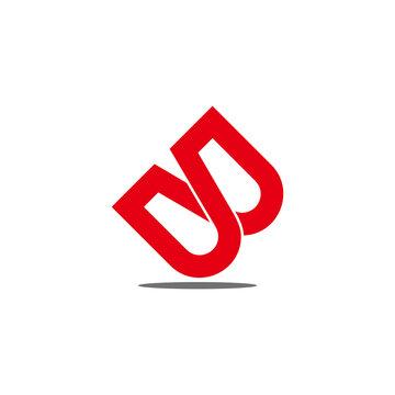 letter wb infinity lines overlap design logo vector