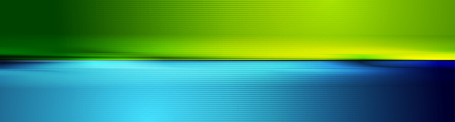 Wall Mural - Contrast green and blue smooth abstract background. Vector banner design
