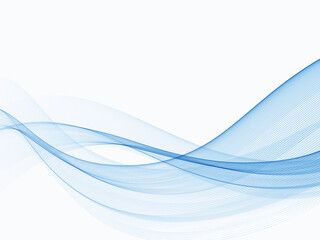 Fototapeta Blue abstract lines swoosh wave Smooth wave border background Wave blue flow