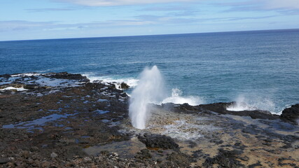 Spouting Horn blowhole, one of the most photographed spots on Kauai part 1