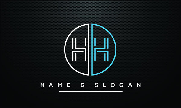 H,HH Abstract Letters Logo Monogram