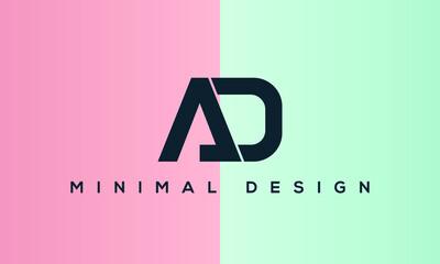 AD letter logo alphabet monogram icon symbol