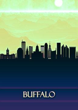 Buffalo City Skyline