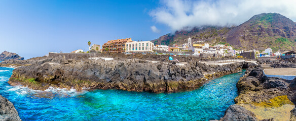 Wall Mural - Landscape with Garachico town of Tenerife, Canary Islands, Spain
