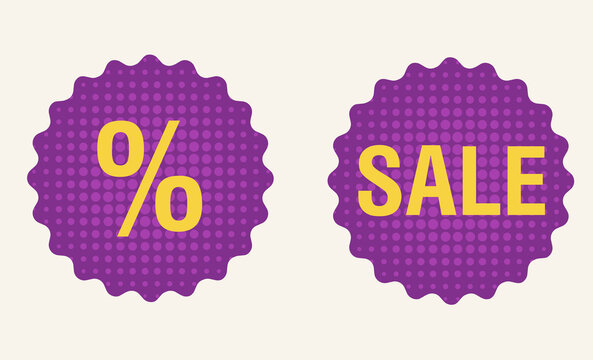 Flash sale discount banner template promotion. Vector.