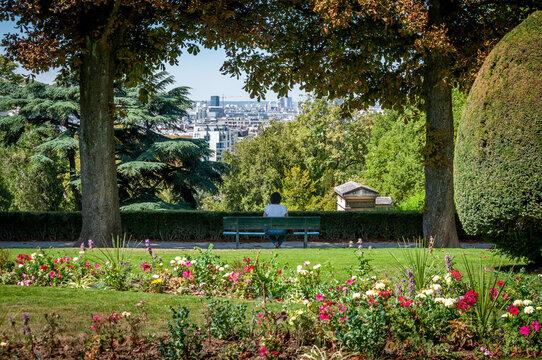 Vue de Paris depuis le cimetière du Père Lachaise