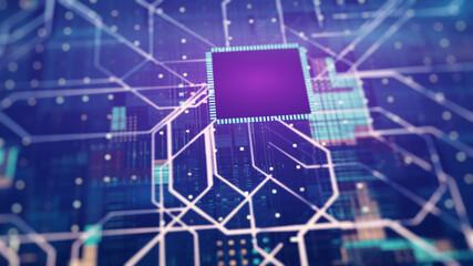Sci-Fi Circuit Background. Futuristic Concept Design