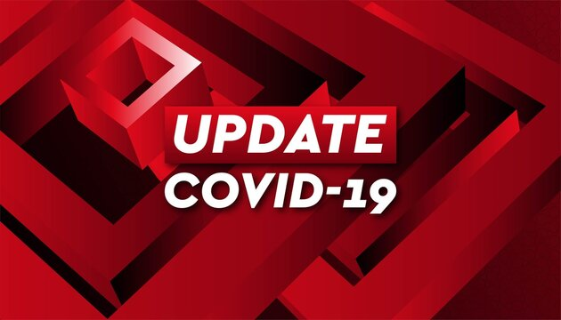 Covid-19 news update background template.