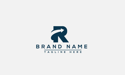 R Logo Design Template Vector Graphic Branding Element