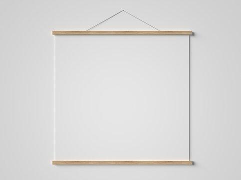 Poster Hanger 3D render Mockup