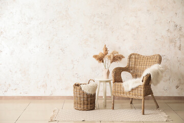 Wall Mural - Interior of room with comfortable armchair